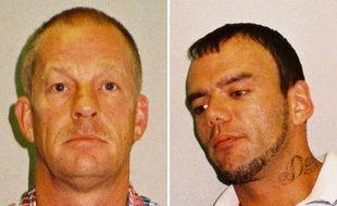 Layton Davies (D) et George Powell (G) ont été condamnés à 8 et 10 ans de prison pour avoir caché un trésor viking.