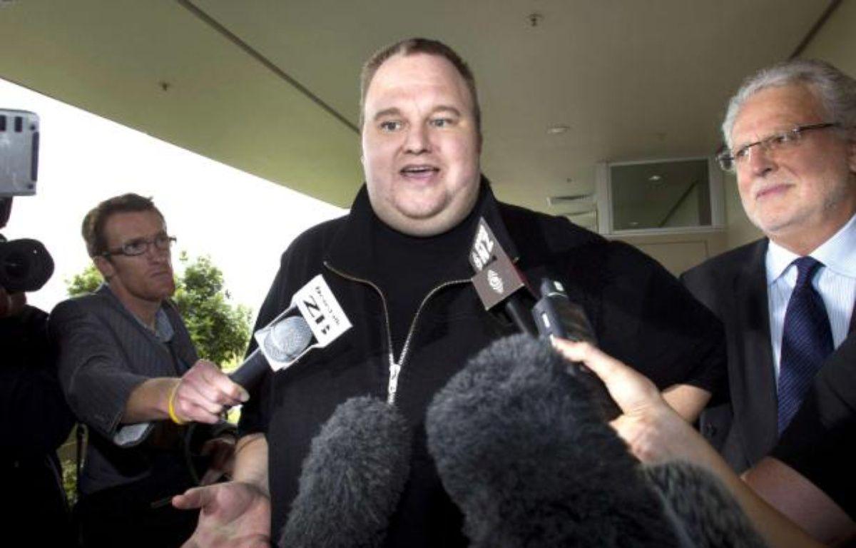 Le fondateur de MegaUpload, Kim Dotcom, le 22 février 2012, en Nouvelle-Zélande. – B.PHIBBS/AP/SIPA