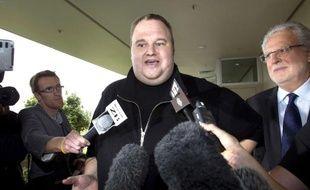 Le fondateur de MegaUpload, Kim Dotcom, le 22 février 2012, en Nouvelle-Zélande.