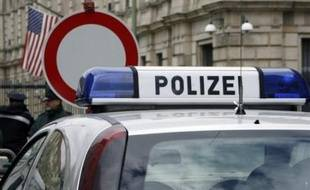 Un véhicule de la police allemande.