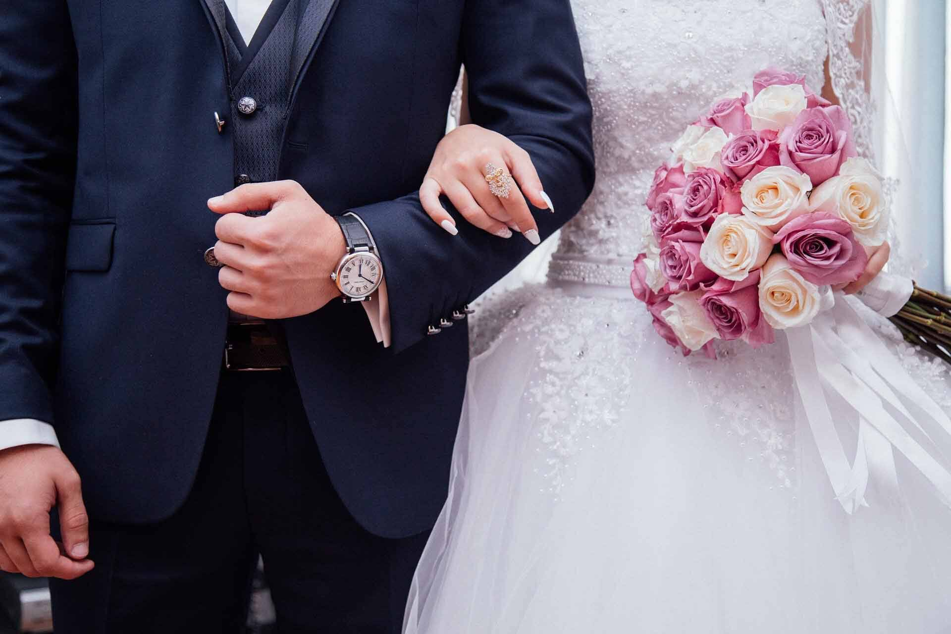Illustration d'une cérémonie de mariage.