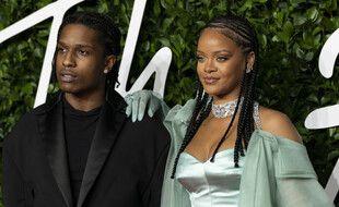 Le rappeur ASAP Rocky et la chanteuse Rihanna