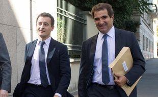Gérald Darmanin et Christian Jacob, le 9 septembre 2016 à Paris.