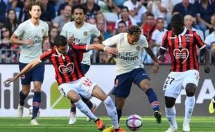 Neymar a ouvert le score lors de Nice-PSG, le 29 septembre 2018.