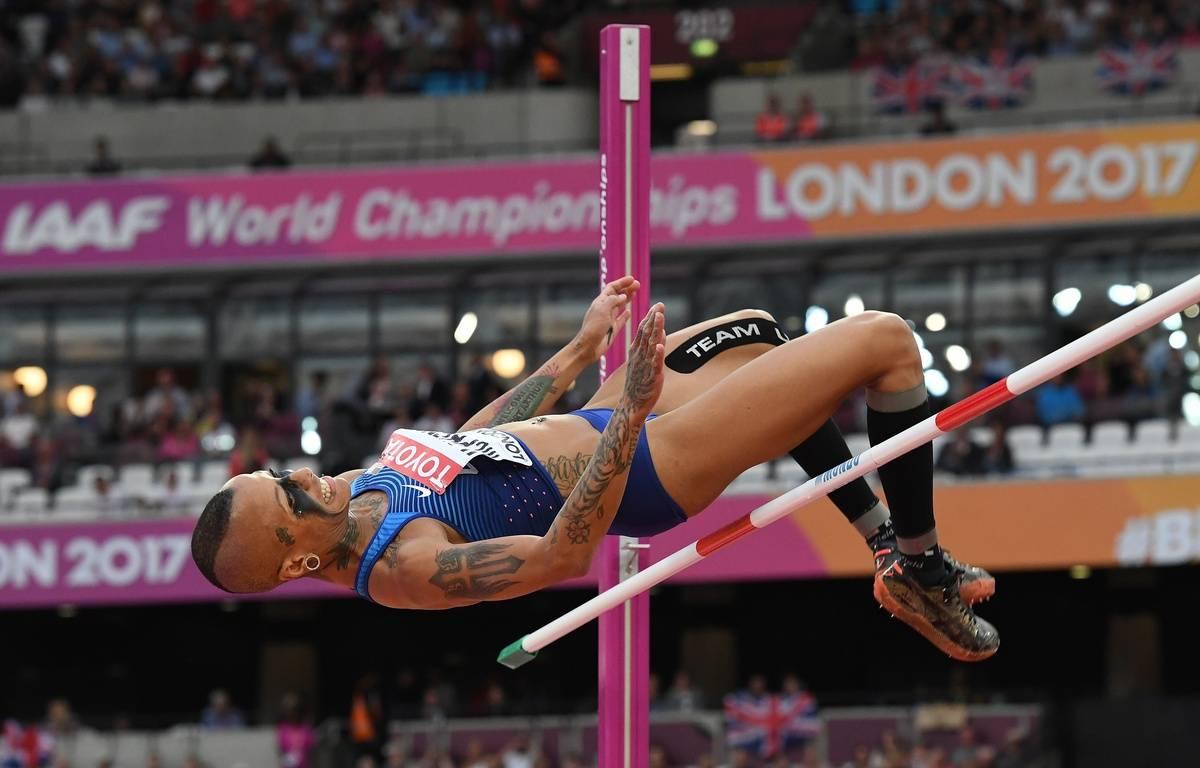 Inika McPherson a terminé en neuvième position au concours de saut en hauteur à Londres. – AFP