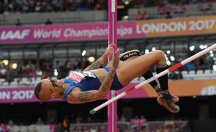 Inika McPherson a terminé en neuvième position au concours de saut en hauteur à Londres.