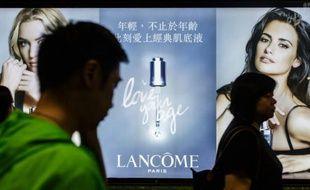 Publicité Lancôme à Hong Kong le 6 juin 2016