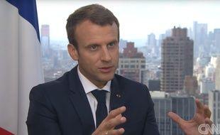 Emmanuel Macron sur CNN, le 19 septembre 2017.