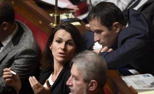 Aurélie Filippetti et Benoît Hammon le 21 octobre 204 à l'Assemblée nationale à Paris