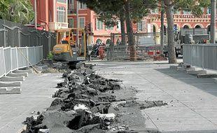 Les travaux engagés sur la place Massena devraient durer deux mois.