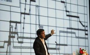 """L'économiste français Thomas Piketty, donne une conférence sur son livre """"Le Capital au XXIe siècle"""" le 15 novembre 2014, dans une université de Pékin"""