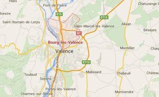 Carte de situation de Bourg-les-Valence