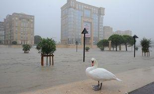 Les rues inondées de Montpellier, le 29 septembre 2014.