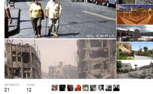 Capture d'écran de Twitter dévoilant des monuments d'Alep détruits.