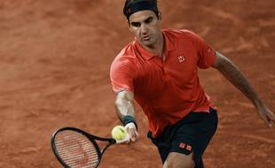 Roger Federer a bataillé pour battre Koepfer au 3e tour de Roland-Garros, le 5 juin 2021.
