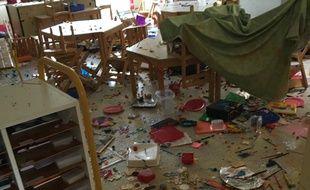 Le maire a fait une photo pour constater les dégâts.