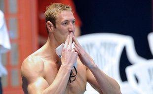 Le nageur français Alain Bernard, lors des championnats de France de Dunkerque, le 24 mars 2012.