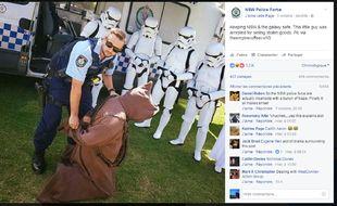 Capture d'écran de la photo postée sur le compte officiel de la police australienne.