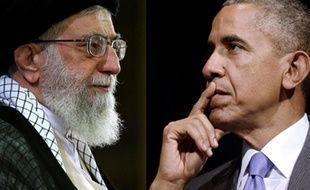 Ali Khamenei et Barack Obama. Ali Khamenei et Barack Obama.