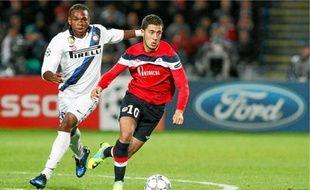 Eden Hazard face à l'Inter Milan