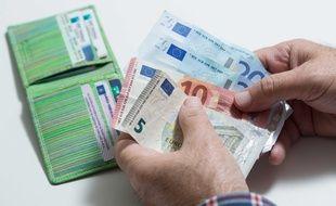 Illustration d'argent de poche.