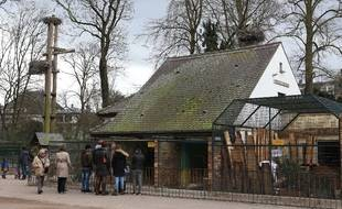 Le zoo de l'Orangerie à Strasbourg.