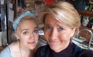 Emma Thompson et sa sœur Sophie, le 25 avril 2016.