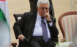 Le Président plaestinien Mahmoud Abbas le 5 avril 2015.