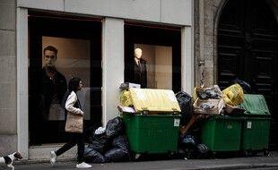 Des poubelles à Paris (image d'illustration).