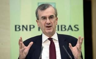 François Villeroy de Galhau lors de la présentation des résultats de la BNP, le 5 février 2015 à Paris