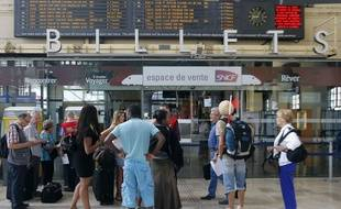 Grève à la SNCF le 12 juin 2014.