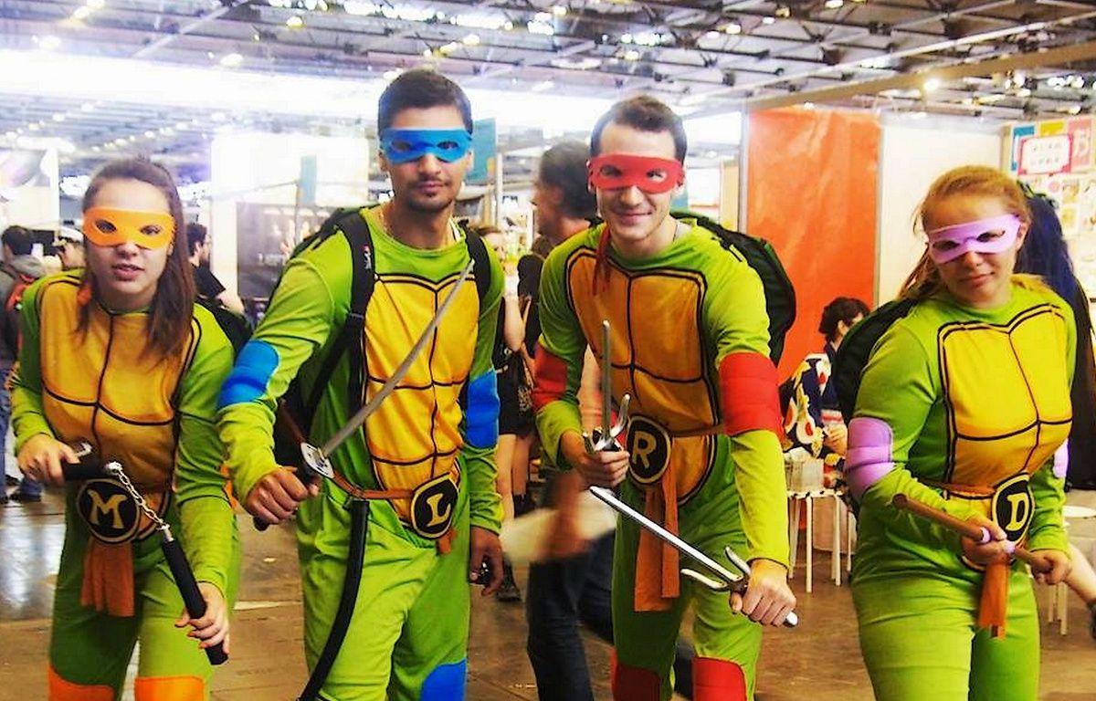 Cosplayers fans des Tortues Ninjas à Japan Expo Villepinte 2016 – © Japan Expo Villepinte 2016