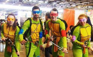 Cosplayers fans des Tortues Ninjas à Japan Expo Villepinte 2016