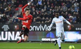 Efficace face à Toulouse, Adrien Hunou a manqué la finition samedi lors de la défaite du Stade Rennais face à Marseille.