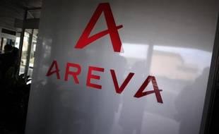 Le logo du groupe nucléaire français Areva.