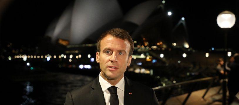 Emmanuel Macron à Sydney le 1er mai 2018