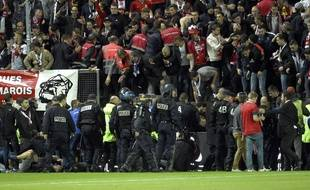 L'effondrement de la barrière avait fait 29 blessés parmi les supporters lillois.