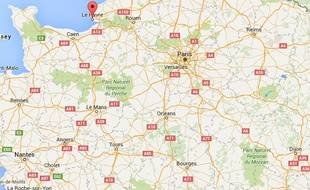 Le Havre. Capture Google maps