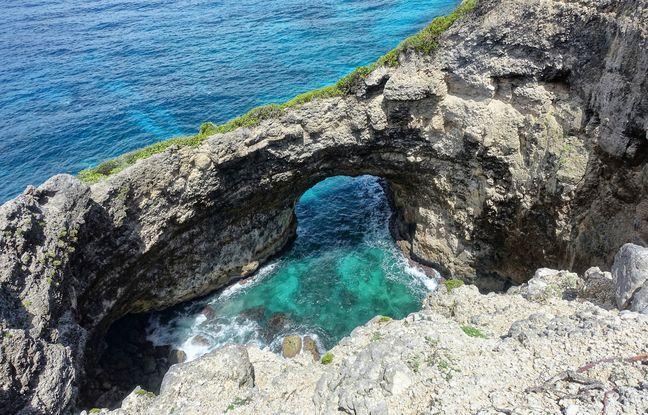 Gueule Grand Gouffre. Un des nombreux trésors du littoral marie-galantais.