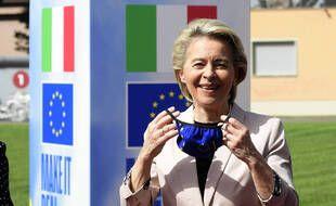 La présidente de la Commission européenne, Ursula von der Leyen, à Rome le 22 juin 2021.