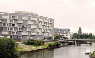 Les bords de Vilaine à Rennes, ici près du pont Robert Schuman.