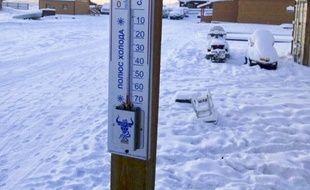 Le thermomètre affichait jusqu'à moins 62 degrés dans le village d'Oymyakon, en Sibérie, le 14 janvier 2018.