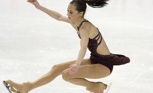 La Française Candice Didier lors des championnats d'Europe de patinage artistique à Helsinki, le 23 janvier 2009.