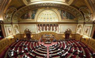 Paris le 23 janvier 2012. Illustration d'une séance dans l'hémicycle du Sénat lors du débat sur la proposition de loi sur la reconnaissance du génocide arménien.