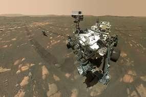 Le rover Perseverance sur Mars le 6 avril 2021.