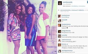 Photo du compte instagram de Solange Knowles avec sa sœur Beyoncé