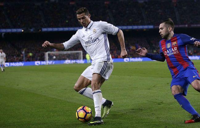 Cristiano Ronaldo lors du match entre le Real Madrid et le Barça le 3 décembre 2016.