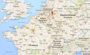 Google Map de Düsseldorf, en Allemagne.