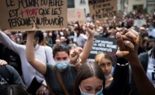 Manifestation contre les violences policières dans le monde, lundi 8 juin 2020 à Nantes.