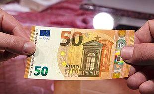Illustration d'un billet de 50 euros.